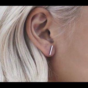 Jewelry - Silver Bar Stud Earings